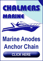 Chalmers marine. Zinc anodes, sacrificial anodes, hull anodes, engine anodes, anchor chain.